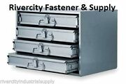 New Metal 16 Hole Storage Tray / Cabinet And Slide Rack 303-95 + Four 113-95