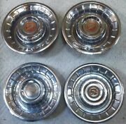 1956 Cadillac Coupe Deville Fleetwood Lot Of 4 Hubcaps Wheel Covers 15 Inch Oem