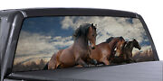 Fgd Truck Rear Window Wild Horse Perforated Vinyl Decal Wrap Universal