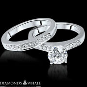 Vs2/e 1.17 Tc Engagement Diamond Ring Solitaire With Accent Enhanced Round Cut