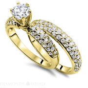 D/si1 Tc Engagement Diamond Ring Solitaire With Accent Enhanced Round Cut