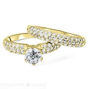 Solitaire With Accent Tcw Diamond Enhanced Ring Rdac-16 F/vs1 Round