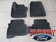 13 Thru 19 Escape Oem Ford Tray Style Molded Black Rubber Floor Mat Set 4-pc New