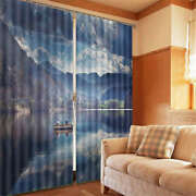 Small Wooden Boat And Men 3d Curtain Blockout Photo Print Curtains Fabric Window