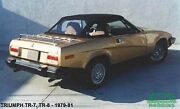 New Robbins Brand Convertible Top For Triumph Tr7 Tr8 Black Vinyl Made In Usa