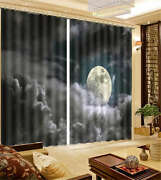 Thick Coud Block The Moon 3d Curtain Blockout Photo Print Curtains Fabric Window