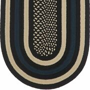 Hero Law Enforcement Blue Braided Area Rug By Colonial Rug-- Many Sizes