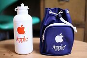 Very Rare Vintage Apple Computer Water Bottle And Bag Promo Novelty Macintosh