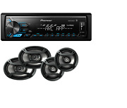 Pioneer Car Stereo Digital Media Receiver Bluetooth Usb Aux+6.5 And 6.9 Speakers