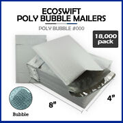18000 000 4x8 Ecoswift Brand Poly Bubble Mailers Padded Envelope Full Pallet