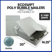 2100 7 14.25x20 Ecoswift Brand Poly Bubble Mailers Padded Envelope Full Pallet