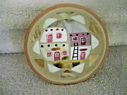 SIGNED MADELINE CLAY PLATE WITH 18 INLAY STONES