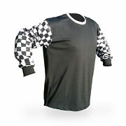 Blank Motocross Jersey Checkerboard Mx Enduro Motorcycle Vintage Style Reign Vmx