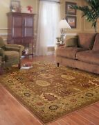 Allure By Oriental Weavers. Traditional Oriental Area Rug. Rust/gold 006f