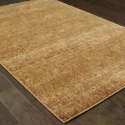 Atlas By Oriental Weavers. Distressed Casual Area Rug. Gold/yellow 8033r