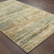 Atlas By Oriental Weavers. Abstractcasual Area Rug. Green/gold 8037j