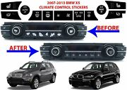Replacement Climate Control Button Stickers For 2007-2013 Bmw X5 New Free Ship