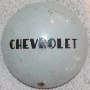 Vintage Chevrolet Painted 10 Inch Od And 7 1/2 Id Dog Dish Moon Style Hubcap