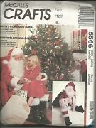 Mccalland039s 1991 Santa Claus Costume With Bag And Doll Sewing Patterns Uncut