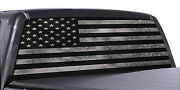 Truck Rear Window Decal Black And White Distressed American Flag Vinyl Wrap