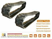 2pc Rubber Track 450x71x82 Made For Ihi 65uj 70nx 75nx Gehl 802 Excavator