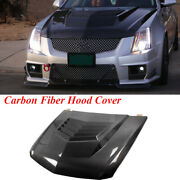 Front Bonnet Hood Cover Bodykit Fit For Cadillac Cts-v Coupe Sedan Carbon Fiber