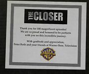 The Closer 100 Episode Digital Picture Frame Gift To Cast/crew From Warner Bros