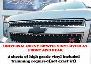 Chevy Bowtie Front And Rear Vinly Overlay Sheets Fits Tahoe Silverado Suburban