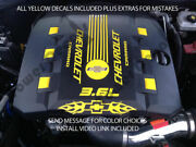 Rs V6 Engine Cover Decal Set Fits 2010-2015 Chevy Camaro Flames Accessories