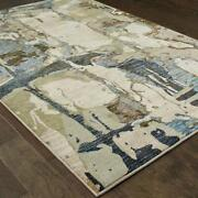 Evolution By Oriental Weavers. Contemporary Abstract Area Rug. Gray/blue 8027a
