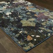 Evolution By Oriental Weavers. Contemporary Abstract Area Rug. Navy/gray 8029a