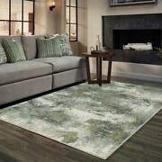 Evolution By Oriental Weavers. Contemporary Abstract Area Rug. Blue/green 8039e