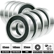 8x 6313-2rs Ball Bearing 65mm X 140mm X 33mm Rubber Seal Premium Rs 2rs New