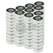 100x Ss6201-2rs Ball Bearing 12mm X 32mm X 10mm Rubber Sealed Stainless Steel