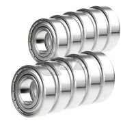 10x 6203-zz Ball Bearing 5/8 Inch X 40mm X 12mm Double Shielded Seal New Qjz