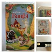 Collectible And Rare Disney Bambi Vhs Black Diamond The Classicstwo Holograms