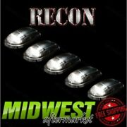 Recon 5pc Clear Cab Light Kit With White Leds Fits 2003-2016 Dodge Ram 2500 3500
