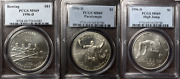 1996-d Olympic Silver 1 Paralympics High Jump Rowing Ms 69 Top 100 Modern Coins