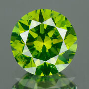 2.9 Mm Certified Round Fancy Green Color Vvs Loose Natural Diamond Wholesale Lot