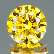 2.7 Mm Certified Round Fancy Yellow Color Si Loose Natural Diamond Wholesale Lot