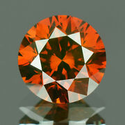 2.4 Mm Certified Round Fancy Red Color Si Loose Natural Diamond Wholesale Lot
