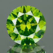 3.25 Mm Certified Round Fancy Green Color Loose Natural Diamond Wholesale Lot