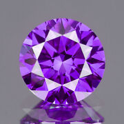 2.8 Mm Certified Round Fancy Purple Color Si Loose Natural Diamond Wholesale Lot