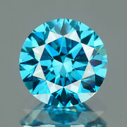 2.7 Mm Certified Round Fancy Blue Color Si Loose Natural Diamond Wholesale Lot
