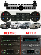 Replacement Climate Control And Radio Buttons Stickers For 2007-2013 Gm Trucks New