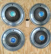 1 Set Of 4 1973 - 1974 Ford 15 Hubcaps Set 1003