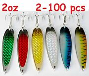 2oz Crocodile Casting Spoons Fishing Lures-choose Color And Qty 2 To 100