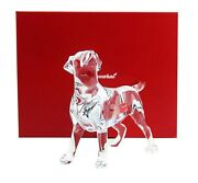 Baccarat Chien Labrador Dog Clear Crystal Figurine 5,5 Tall New Made In France