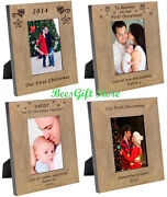 Personalised Our First 1st Christmas Photo Frame Gifts For Mummy Daddy Couple
