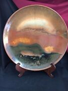 Vintage Signed Greg Daly Studio Pottery Charger